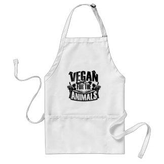 Végétalien pour le tablier d'animaux