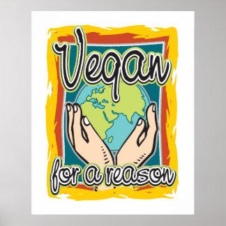 Végétalien pour une raison affiches