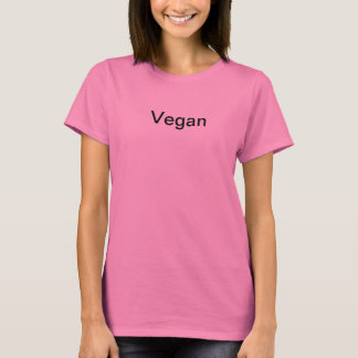 Végétalien rose t-shirt