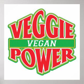 Végétalien végétarien de puissance affiches