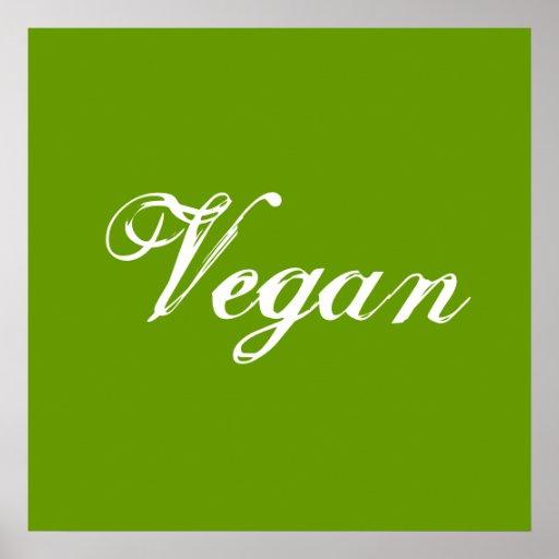 Végétalien. Vert. Slogan. Coutume Poster