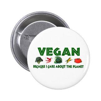 Végétaliens pour la planète badges
