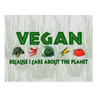 Végétaliens pour la planète carte postale