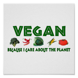 Végétaliens pour la planète poster