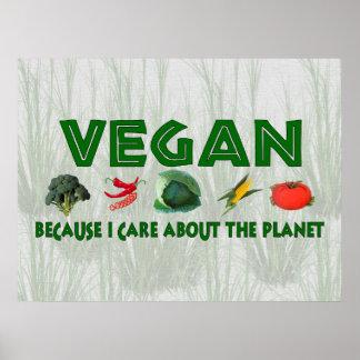 Végétaliens pour la planète affiche