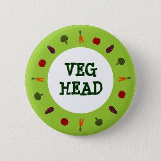 Végétarien/bouton coloré végétalien de légume pin's