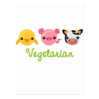 Végétarien Carte Postale