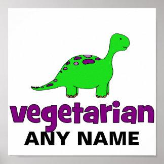 Végétarien - conception de dinosaure posters
