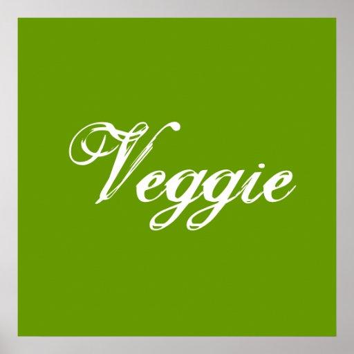 Végétarien. Vert. Slogan Poster