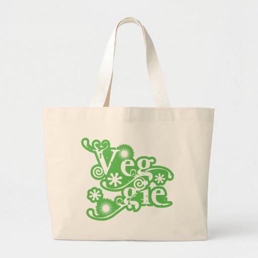 Végétarien vintage, pour des végétariens et des vé sac en toile