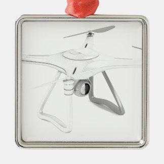 Véhicule aérien téléguidé (bourdon) ornement carré argenté