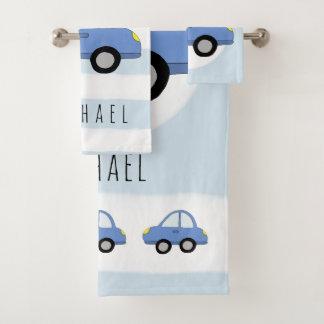 Véhicule bleu et nom de voiture de bébé mignon