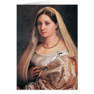 Velata de La ou velata de donna de La par Raffael Carte De Vœux