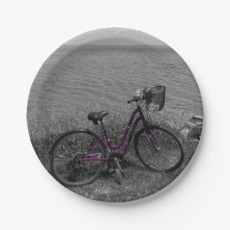 Vélo à la couleur choisie de Mackinac Assiettes En Papier