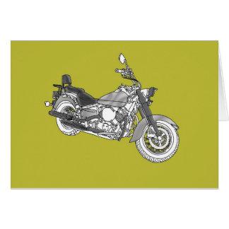 Vélo argenté d'étoile carte de vœux