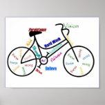 Vélo, bicyclette, cycle, sport, faire du vélo, de  posters