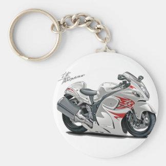 Vélo Blanc-Rouge de Hayabusa Porte-clés
