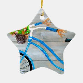 Vélo bleu Zazzle Ornement Étoile En Céramique