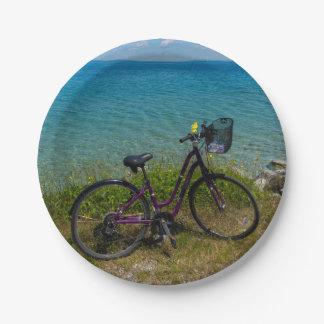 Vélo chez Mackinac Assiettes En Papier