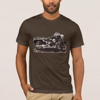 Vélo classique vintage de Brown T-shirt