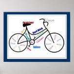 Vélo, couleur de personnaliser de bicyclette, de m poster