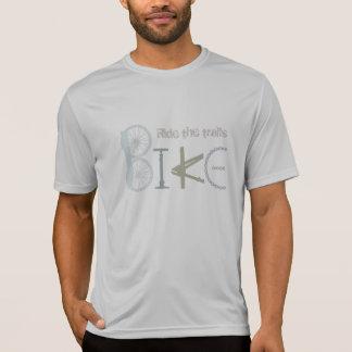 """Vélo de citation """"montez traînées"""" des pièces de t-shirt"""