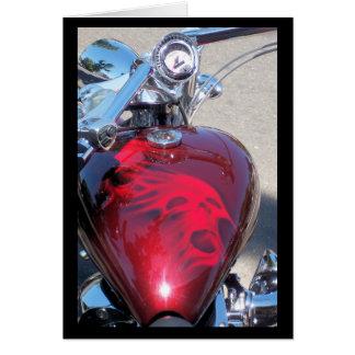 Vélo de crâne carte de vœux