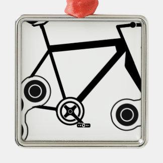 Vélo de fileur de personne remuante ornement carré argenté