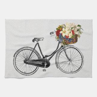 Vélo de fleur de bicyclette de serviette de