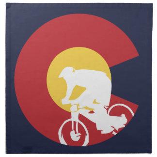 Vélo de montagne le Colorado Serviettes En Tissus