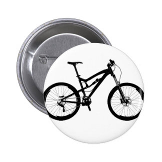 Vélo de montagne - noir sur le blanc pin's