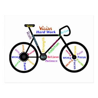 Vélo de motivation, cycle, faisant du vélo, mots carte postale
