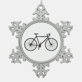 Vélo de route, bicyclette, ornement de flocon de