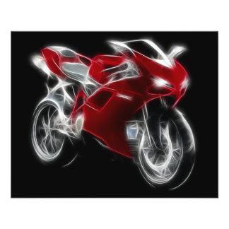 Vélo de sport emballant la moto prospectus 11,4 cm x 14,2 cm