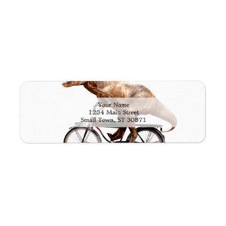 Vélo d'équitation de Trex Étiquette D'adresse Retour
