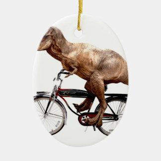 Vélo d'équitation de Trex Ornement Ovale En Céramique