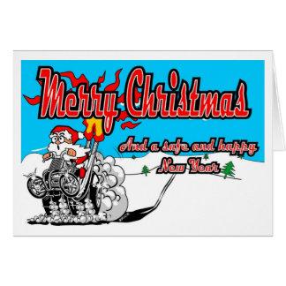 Vélo Père Noël de neige de quadruple de Joyeux Carte De Vœux