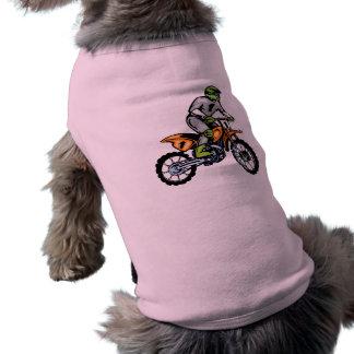 Vélo rose de saleté t-shirt pour chien