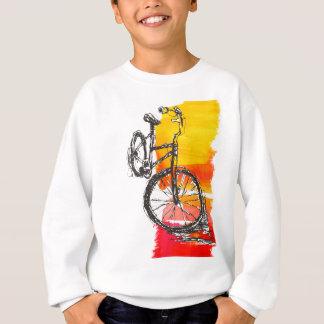 Vélo rouge coloré sweatshirt