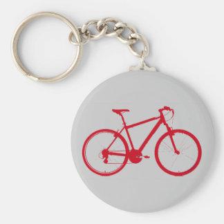 vélo rouge, faisant un cycle porte-clé rond