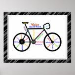 Vélo, sport de bicyclette, mots de motivation et r posters