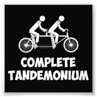 Vélo tandem Tandemonium complet Impression Photographique