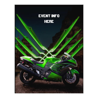 Vélo vert et noir de sport prospectus 21,6 cm x 24,94 cm