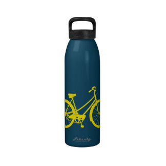 Vélo vintage - bouteille d'eau en aluminium (multi