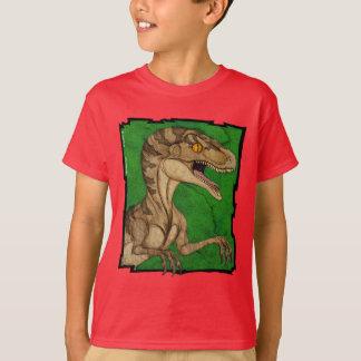 Velociraptor de cru de style de film t-shirt