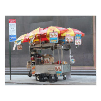 Vendeur de hot-dog carte postale
