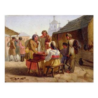 Vendeur de Kvas, 1862 Carte Postale