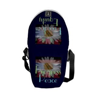 Vendeur de paix ! Mini sac messenger à Marguerite- Besace