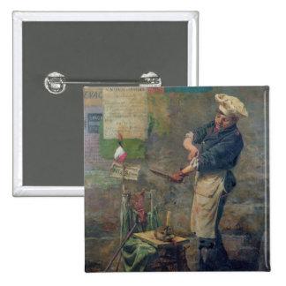 Vendeur de rat pendant le siège de Paris, 1870 Badge