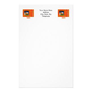 Vénétie diminuent avec le nom papier à lettre personnalisé
